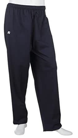 Russell Athletic Men's Cotton Performance Open Bottom Pant, Navy, Small