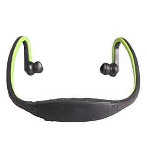 Vktech New Fashion Sports Stereo Wireless Headset Headphones for iPhone 4 Cell Phone Green