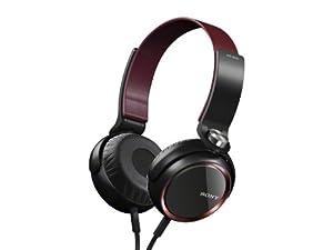 SONY ステレオヘッドホン レッド MDR-XB400/R
