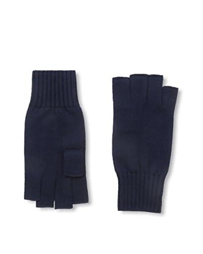 Portolano Men's Merino Fingerless Knit Gloves, Navy
