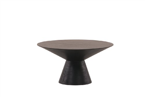 Cheap Diamond Sofa Low Profile Round End Table with Pedestal Base, Dark Walnut (l0808b)