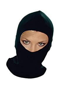 Thermal Synthetic Silk Black Balaclava Under Helmet Protection