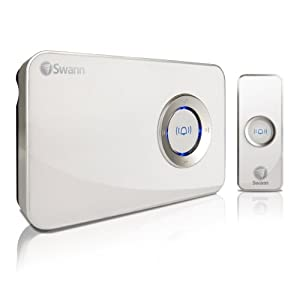 Swann SWHOM-DC840B-GL MP3 DJ Doorbell Customizable Wireless Music Doorbell with Built-In 90MB Memory (White)