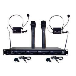 Pyle 4Mic Vhf Wireless Microphone System back-182483