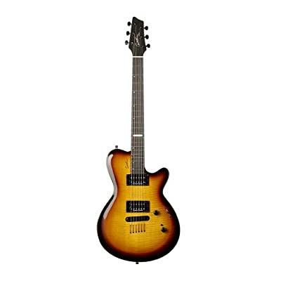 Godin Summit CT Guitar with High Definition Revoicer (Sunburst Flame) review