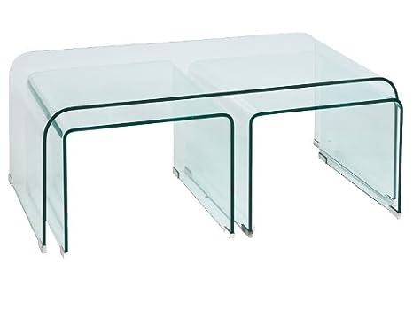 Design Couchtisch Priam A Klarglas