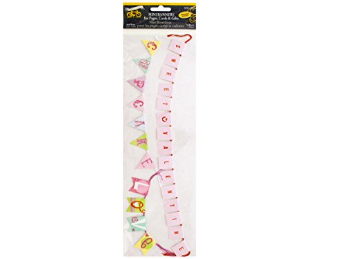 bulk buys Sweet Valentine Mini Banners with Embossed Accents
