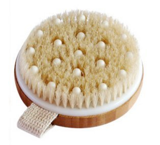 Dry / Wet Body Brush by C.S.M. - Clear Dead Skin Cells While Reducing Cellulite & Toxins - Natural Bristles for Better Exfoliation (Body Brush For Shower compare prices)