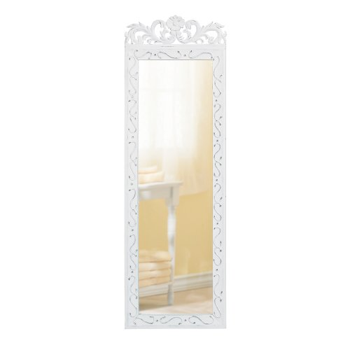 Gifts & Decor Elegant White Hanging Accent Bed Room Hall Wall Mirror
