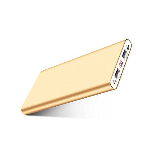 Fritesla 16000mah Power Bank Portable Charger for Smartphones-Gold