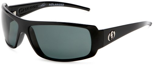 Electric Visual Charge Polarized Sunglasses,Gloss Black Frame/Grey Polarized Lens,One Size