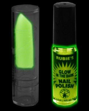 Glow in the Dark Lipstick & Nail Polish