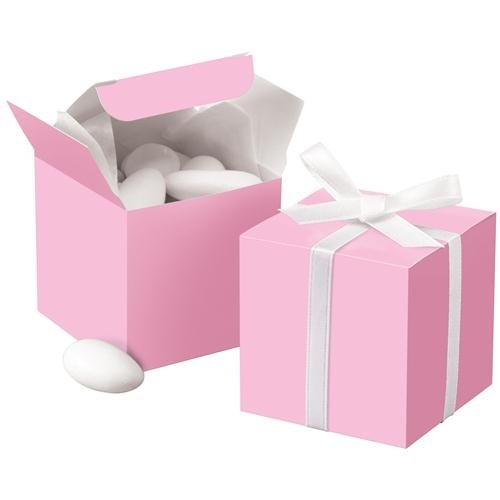 Wilton 1006-0632 Pink Square Favor Box Kit, 100 Count