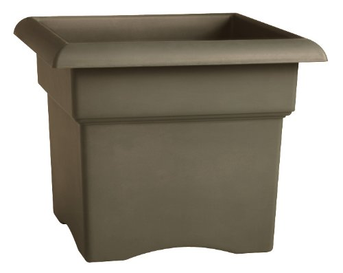 Fiskars 18 Inch Veranda Square Planter Box, Color Cement (57718)