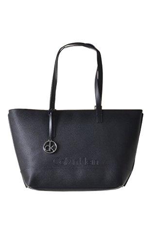 Calvin Klein Melissa Medium Tote Borsa, Donna, Colore Black 1