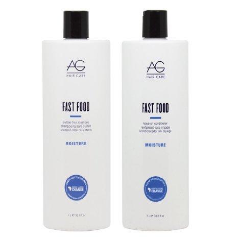 AG Hair Fast Food Shampoo & Conditioner 33.8oz Duo