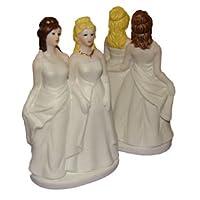 Rainbow Sisters Lesbian Wedding Cake Topper