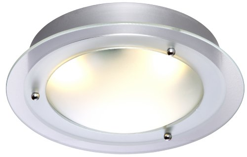 TP24 Lima IP44 Rated Flush Fitting in Chrome and Glass Finish