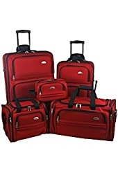 Samsonite Outpost 5 Piece Luggage Set (Red)