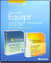 Microsoft Equipt with Microsoft Office Home and Student 2007 for 3 Users / 1 Year