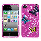 Spring Butterfly Phone Protector Faceplate Cover For APPLE iPhone 4S/4/4G