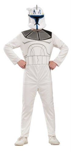 Star Wars The Clone Wars Captain Rex Action Suit Costume, Child Size 8 to 10