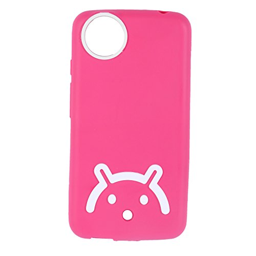 Iway Android Smiley Matte Finish TPU Soft Back Cover for Spice Dream Uno Android One MI-498 - Pink