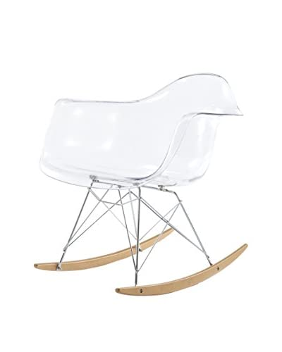 Meelano M10 Rocking Chair In Clear And Gold