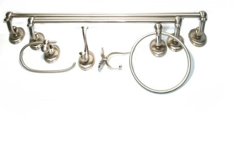 Vintage The Features Baldwin Champlain Prestige Series Bathroom Accessories Pc Set Satin Nickel