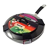 Ready Steady Cook Bistro 28cm Stainless Steel Non-Stick Stirfry Pan with Glass Lid Silver and Black
