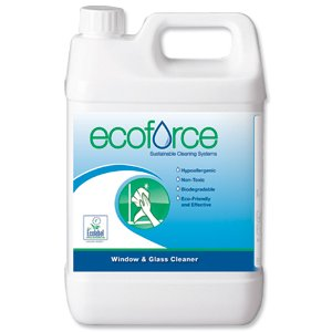 Ecoforce Glass and Window Cleaner 5 Litre Ref 11508 [Pack 2]