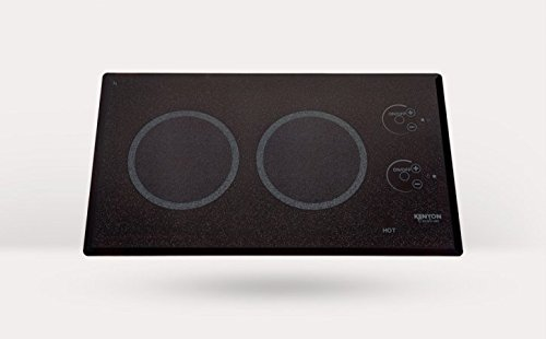 Kenyon B41576 6-1/2-Inch Lite-Touch Q 2-Burner Trimline Cooktop With Touch Control, 240-Volt, Black