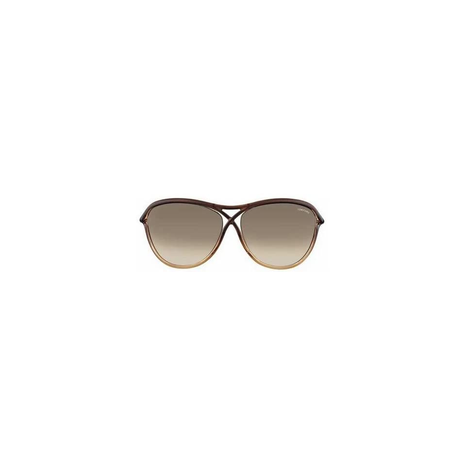 a3a8efcc89 Tom Ford Sunglasses TF183 Tabitha 50F Brown Gradient 183 on PopScreen