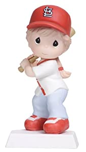 Precious Moments Swing For the Fences Girl Figurine, St. Louis Cardinals by Precious Moments
