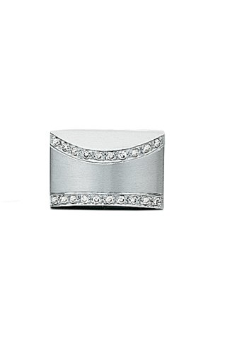 14K White Gold Tie Tac with .08 ct. Diamonds-86466