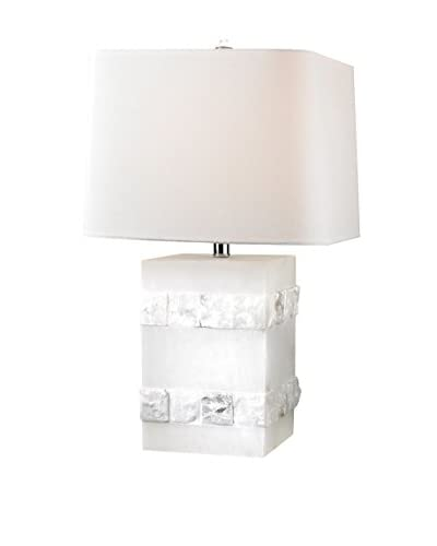 Artistic Lighting Mystery Cube Table Lamp, Alabaster
