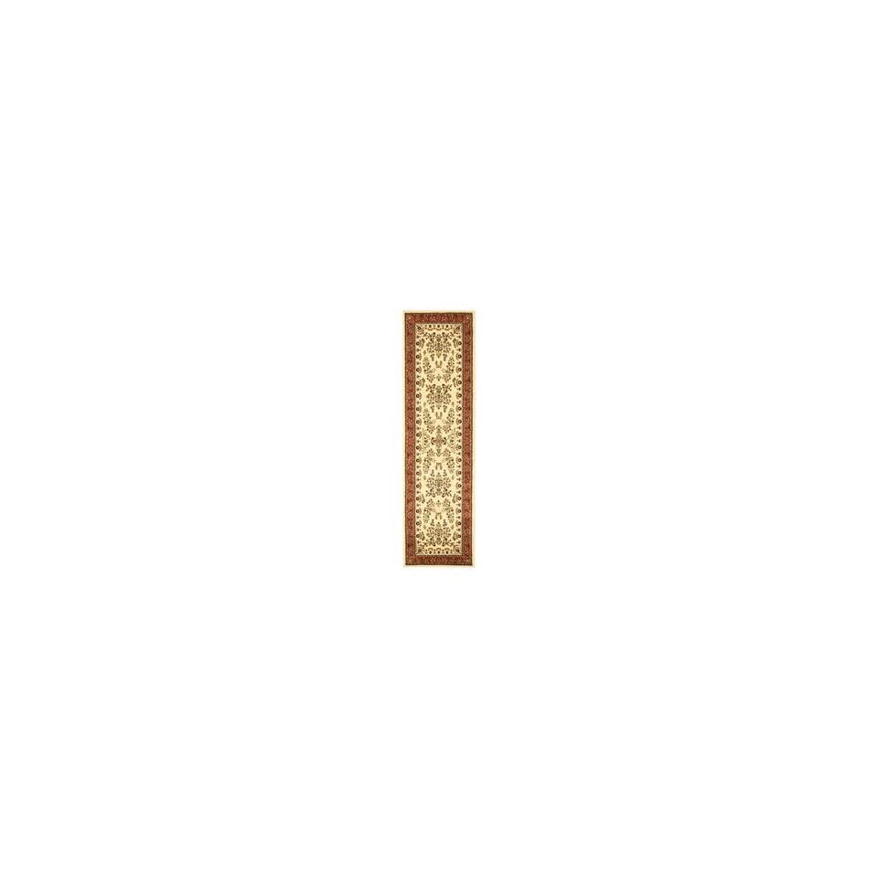 Safavieh Lyndhurst Collection LNH331R Ivory and Rust Area Runner, 2 Feet 3 Inch by 8 Feet