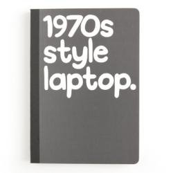 Gifts for men - 1970s style laptop - a fun notebook - a Christmas gift for him