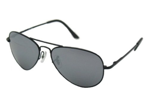Aviator Sunglasses with Mirrored Lenses and Spring Hinge
