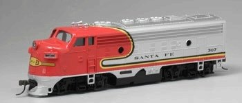 WALTHERS, BACHMANN 5, HO SCALE, F-9, POWERED LOCOMOTIVE, SANTA FE, #307