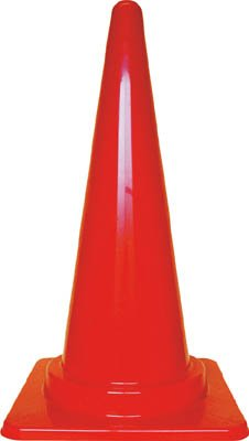 TRUSCO カラーコーン 700X380赤写真1