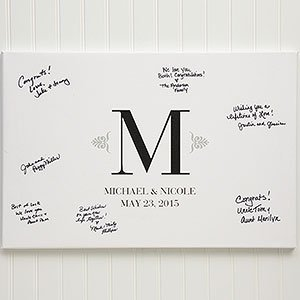Personalized Wedding Signature Canvas Prints - Guest Book - Large