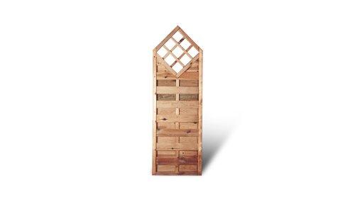 stabiler sichtschutz holzzaun mit rankhilfe ma 60 x 180 auf 150 cm breite x h he aus kiefer. Black Bedroom Furniture Sets. Home Design Ideas
