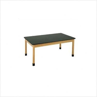 """Diversified Woodcrafts P7221K30N UV Finish Solid Oak Wood Table with Plain Apron, Plastic Laminate Top, 60"""" Width x 30"""" Height x 36"""" Depth, 500 lbs Capacity"""