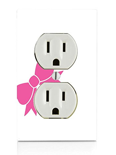 Pink Bow Electrical Outlet Plate