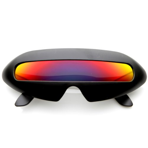 Futuristic Shield Single Lens Oval Party Novelty Cyclops Shades