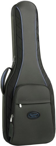 Reunion Blues Continental Electric Guitar Case with Ballistic Quadraweave Black Exterior Quilted