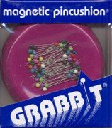 GrabbIt magnetic pin cushion and pins Raspberry