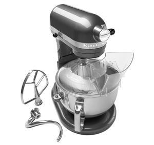 KitchenAid KP26M1XQPM Pearl Metallic Professional 600 6 Quart Bowl-Lift Stand Mixer with Pouring Shield
