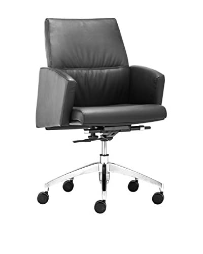 Zuo Modern Chieftain Low Back Office Chair, Black